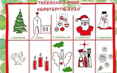 Tekenchallenge Kersteditie 2020